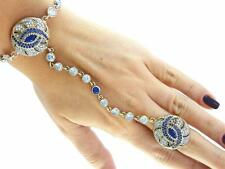 Newl 925 Sterling Silver Hand Chain Slave Boho Bracelet Ring Turkish Jewelry B59