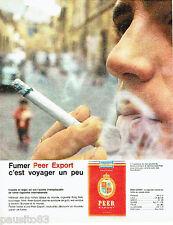 PUBLICITE ADVERTISING 056  1962  Les cigarettes Peer Export  à Traversere (Rome
