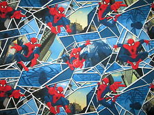 Spiderman Spider Man Super Heroes Comics Windows Cotton Fabric BTHY