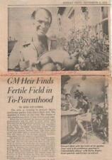 Stewart Mott Autographed 1973 Newspaper Article Famed Philanthropist D.08