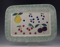 VTG HARTSTONE POTTERY FRUIT SALAD 16 BY 12 XL PLATTER