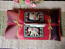 Tissue Cover Box Thai Silk Holder Home Elephant Decor Case Table Car Room Office