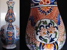 1850 Vase Faïence Rouen DESVRES Louis-François Fourmaintraux - 18th Delft Manner