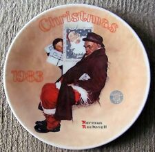"Norman Rockwell - ""Santa In The Subway"" (1983) #10 - E.M. Knowles Plate A840"