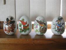 Set of 4 Vintage Avon Four Seasons Collectible Eggs: Birds