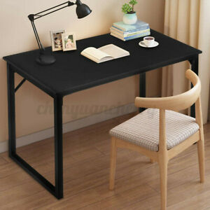 Wooden Computer Desk Modern Simple Home Office Work Study Writing Gaming