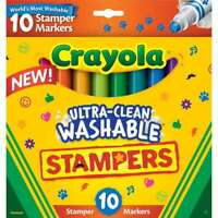 Crayola Ultra-Clean Washable Stamper Markers Assorted 10/Pkg 071662081485