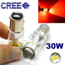 2 X 30W CREE 1157 BAY15D 6LED Turn Brake Tail Lamp Light Bulb P21/5W RED 12-24V