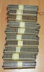 Märklin H0 5106 einhundert M-Gleise 180 mm gerade in gutem Zustand