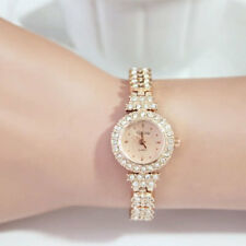 Luxury Women Lady Girl Rose Gold Watch Bling Crystal Dial Quartz Analog Wrist
