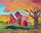 "Autumn Impressionism Oil Painting Landscape Original Signed 16""x20"" Canvas"