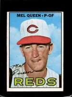 1967 TOPPS #374 MEL QUEEN VG+ REDS ERR  *X01506