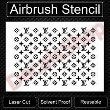 """Military Soldier Kneeling At Cross Reusable Airbrush Stencil Template 11/""""x8.5/"""""""