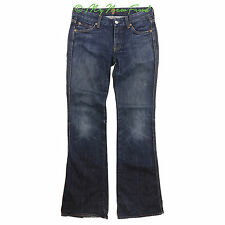 Seven 7 For All Mankind Bootcut Jeans Blue Denim Pants Slight Distressed 27 B36