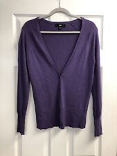 MOSSIMO Purple Cardigan Sweater Long Sleeve Button Front V-Neck SMALL