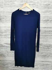 Baukjen Merino Cashmere Navy Blue Jumper Dress Size 8