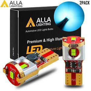 Alla LED 2821 T10 194 Light Sky Blue Tint Parking Light Bulb,Peanut Bulb DRL