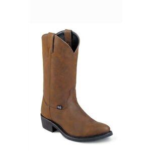 Justin Men's Butch Tan Round Toe Boots JB1100