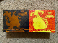 SEALED- Lot of (2), Pokemon TCG Vivid Voltage & Champions Path Elite Trainer Box