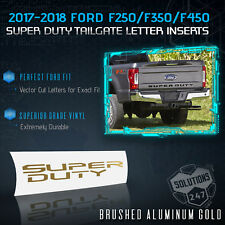2017-2018 Ford F250 F350 F450 Super Duty Tailgate Decal Brushed Aluminum - GOLD