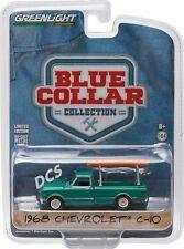GREENLIGHT 1968 CHEVROLET C10 W/ LADDER RACK DARK GREEN 1/64 DIECAST CAR 35040-B