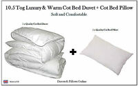 10.5 TOG ANTI-ALLERGY COT BED DUVET QUILT + FREE PILLOW, NURSERY, BABY, TODDLER