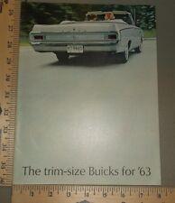 1963 Buick Mid Size Brochure Original