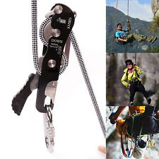 Stop Descender Self-Braking Climb Rescue Rappel Belay Device For 10-12mm Rope