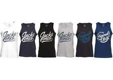 JACK AND JONES Mens Sleeveless Vest Tank Top T-shirt, BNWT, Gym, Muscle, Sports