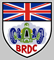 BRDC BRITISH RACING 12cm AUTOCOLLANT STICKER BA074