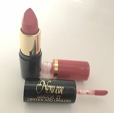 New Eve Trendy Blush Nude Match it Lipstick and Lip Gloss Cosmetic  Makeup