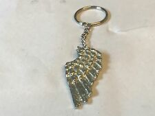 Angel Wing TG135 English Pewter on a Split Ring Keyring