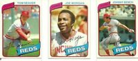 1980 TOPPS CINCINNATI REDS TEAM SET TEAM SET (26) BENCH, SEAVER, MORGAN  NM-MINT