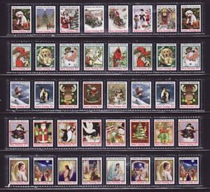 2012 U.S. National & Test Design Christmas Seal Collection, As Required