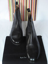 NEW PAUL SMITH Dark Brown Leather 'Garrett' Pull On Boots UK 11 EU 45 RRP £345 !