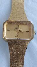 Rare 1965 Mido II Gold toned Mechanical Watch Mesh Band 17 Jewel Swiss RUNS!