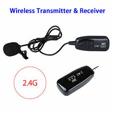 2.4G Lavalier Wireless Microphone Receiver&Transmitter Voice Amplifier Portable