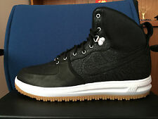 NIKE LUNAR FORCE 1 SNEAKERBOOT SZ 15 654481-002 BLACK GUM White ELEPHANT Cement