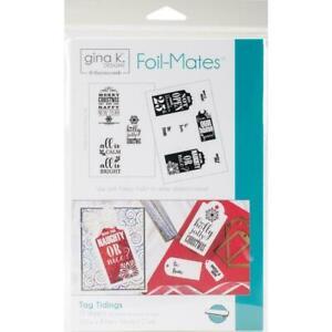 Gina K Designs Foil-Mates Background - Tag Tidings 12 Pk