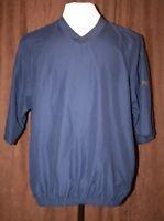 Footjoy Golf Blue Short Sleeve Pullover Windbreaker Shirt Mens Medium M