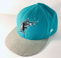 NEW ERA 59FIFTY FLORIDA MARLINS Throwback Fitted Cap Hat Cooperstown Collection