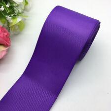 New 3yards 2Inch 50mm Monochrome Grosgrain Ribbon Hair Bow DIY Sewing U pick