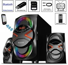 Multimedia Stereo Home Wireless System Bluetooth Speaker FM MP3 Remote Control