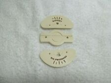 1940-47 Buick Ivory Gauge Faces & Dividers Oil & Battery NEW