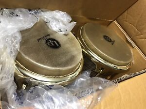 Latin Percussion  LP Galaxy Giovanni Signature Bongos - Natural/Gold