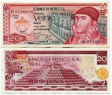 Mexico 20 Pesos 1977 P 64 Xf Banknote Paper Money X 10 Piece Lot