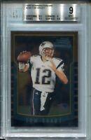 2000 Bowman Chrome Football #236 Tom Brady Rookie Card RC Graded BGS MINT 9