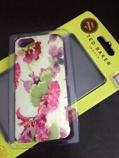 TED BAKER LONDRA iPhone 5 5S SE iPhone 6 6S CUSTODIA IN SILICONE / ROSA flower-new nella casella