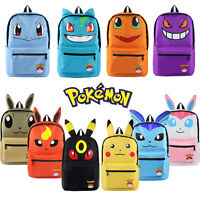 Pokemon Backpack Pikachu, Gengar, Squirtle, Wobbuffet School Bag Book Bag