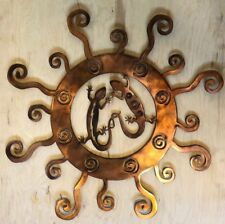 Southwest Lizards in Sun Copper Patina Finish Metal Wall Art Hanging